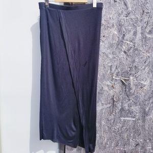 Helmut Lang Long Crossover Slit Skirt